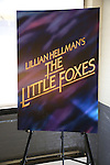 Theatre poster art at the cast photo call for the Manhattan Theatre Club's New Broadway Production of 'The Little Foxes' at the MTC Rehearsal studios on February 27, 2017 in New York City.