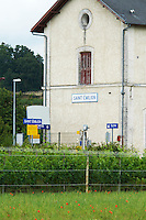 train station saint emilion bordeaux france