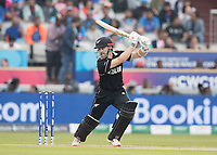 Kane Williamson (New Zealand) drives through point during India vs New Zealand, ICC World Cup Semi-Final Cricket at Old Trafford on 9th July 2019