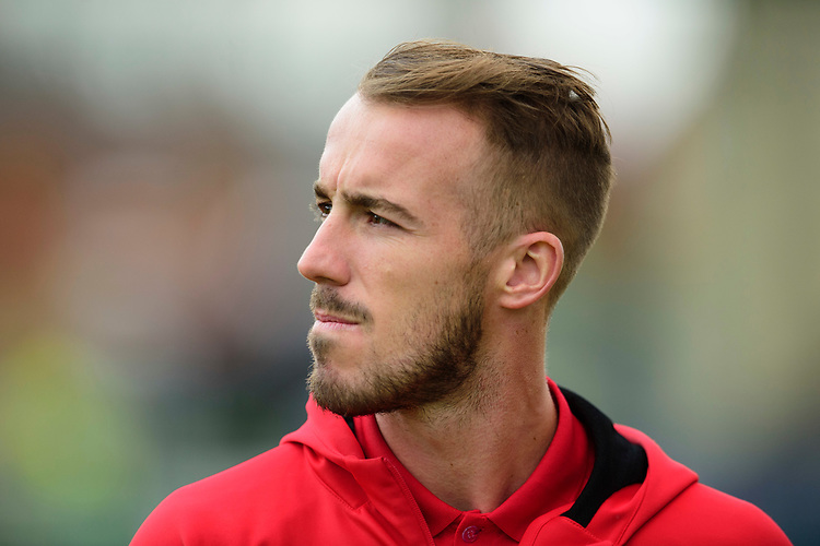Fleetwood Town's Alex Cairns during the pre-match warm-up<br /> <br /> Photographer Andrew Vaughan/CameraSport<br /> <br /> The EFL Sky Bet League One - Lincoln City v Fleetwood Town - Saturday 31st August 2019 - Sincil Bank - Lincoln<br /> <br /> World Copyright © 2019 CameraSport. All rights reserved. 43 Linden Ave. Countesthorpe. Leicester. England. LE8 5PG - Tel: +44 (0) 116 277 4147 - admin@camerasport.com - www.camerasport.com