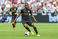 Raheem Sterling of Manchester City during the Premier League match between West Ham United and Manchester City at the London Stadium, London, England on 10 August 2019. Photo by David Horn.