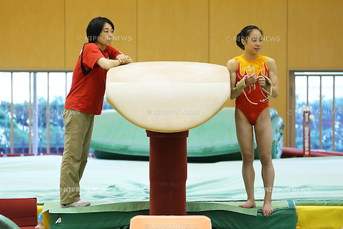 (L to R)  Yayoi Sasada coach, Natsumi Sasada (JPN), <br /> July 20, 2013 - Artistic Gymnastics : <br /> Japan National Team Training Camp <br /> at Ajinomoto National Training Center, Tokyo, Japan. <br /> (Photo by Daiju Kitamura/AFLO SPORT)