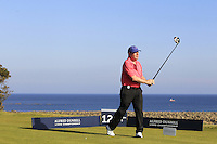 Gerry McManus (AM) on the 12th tee during Round 2 of the 2015 Alfred Dunhill Links Championship at Kingsbarns in Scotland on 2/10/15.<br /> Picture: Thos Caffrey | Golffile