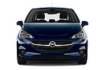 Car photography straight front view of a 2015 Opel CORSA Enjoy 5 Door Hatchback Front View