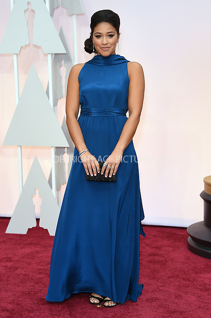 WWW.ACEPIXS.COM<br /> <br /> February 22 2015, LA<br /> <br /> Gina Rodriguez arriving at the 87th Annual Academy Awards at the Hollywood &amp; Highland Center on February 22, 2015 in Hollywood, California.<br /> <br /> By Line: Z15/ACE Pictures<br /> <br /> <br /> ACE Pictures, Inc.<br /> tel: 646 769 0430<br /> Email: info@acepixs.com<br /> www.acepixs.com
