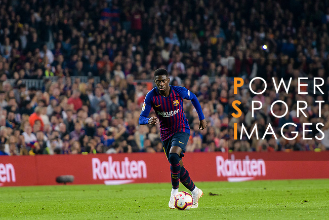Ousmane Dembele of FC Barcelona during the La Liga 2018-19 match between FC Barcelona and Sevilla FC at Camp Nou Stadium on October 20 2018 in Barcelona, Spain. Photo by Vicens Gimenez / Power Sport Images