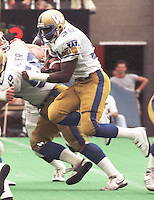 Willard Reaves Winnipeg Blue Bombers running back 1985. Copyright photograph Scott Grant