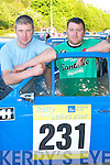 RELAXING: Tommy Mason, Listowel, and Joe Dunne, Corofin, relax at the Rally of the Lakes in Killarney last Friday evening..