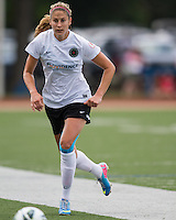In a National Women's Soccer League Elite (NWSL) match, Portland Thorns FC defeated the Boston Breakers, 2-1, at Dilboy Stadium on July 21, 2013.  Portland Thorns FC defender Marian Dougherty (2).