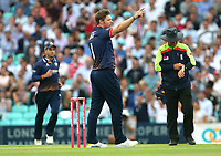 Matt Coles of Essex celebrates taking the wicket of Rory Burns during Surrey vs Essex Eagles, Vitality Blast T20 Cricket at the Kia Oval on 12th July 2018