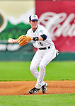 24 July 2010: Vermont Lake Monsters infielder Blake Kelso in action against the Lowell Spinners at Centennial Field in Burlington, Vermont. The Spinners defeated the Lake Monsters 11-5 in NY Penn League action. Mandatory Credit: Ed Wolfstein Photo