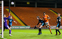 Blackpool's Michael Nottingham heads over the bar<br /> <br /> Photographer Alex Dodd/CameraSport<br /> <br /> The EFL Checkatrade Trophy Northern Group C - Blackpool v West Bromwich Albion U21 - Tuesday 9th October 2018 - Bloomfield Road - Blackpool<br />  <br /> World Copyright &copy; 2018 CameraSport. All rights reserved. 43 Linden Ave. Countesthorpe. Leicester. England. LE8 5PG - Tel: +44 (0) 116 277 4147 - admin@camerasport.com - www.camerasport.com