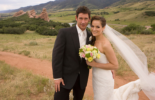 Lindsay and Gil Taylor renewed their vows and participated in a wedding ceremony in Littleton, CO Saturday, July 17, 2010. (Photo/Steve Campbell)    .