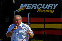 Minister Laurie Vidal speaks to the racers.