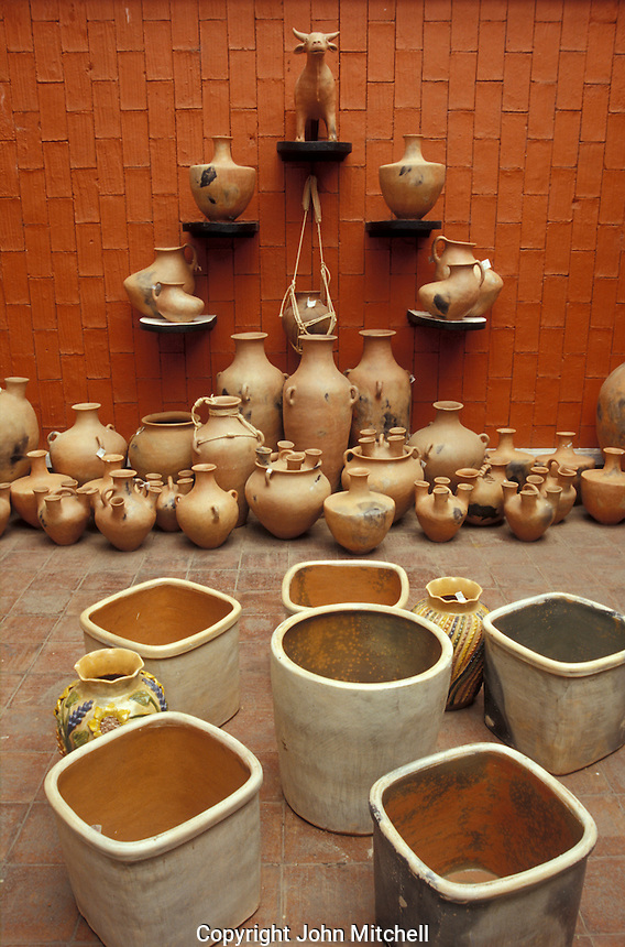 pottery for sale in the ARIPO, Artesanias Industrias Populares de Oaxaca), shop in Oaxaca City, Mexico