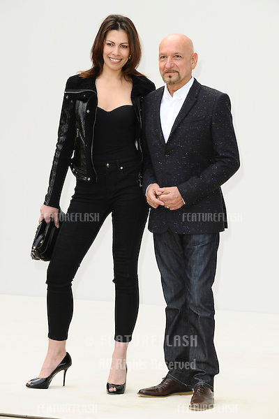 actor, Sir Ben kingsley and wife, Daniela Lavender arrives for the Burberry Prorsum SS'12 catwalk show in Kensington Gardens as part of London Fashion Week..19/09/2011  Picture by Steve Vas/Featureflash