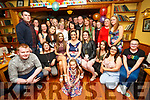 Leaving party for Rachel McBride, Sarah Hayes, Gráinne Maher who are going to Canada as youth workers, here with family and friends at Stokers lodge on Saturday