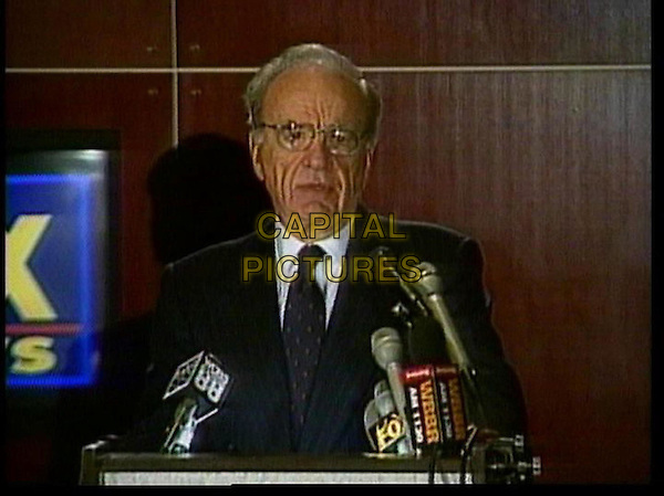 RUPERET MURDOCH ANNOUNCING THE CREATION OF THE FOX NEWS CHANNEL.in Outfoxed.*Editorial Use Only*.www.capitalpictures.com.sales@capitalpictures.com.Supplied by Capital Pictures.