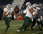 Colorado State fullback Adam Prentice (46) runs against Nevada in the second half of an NCAA college football game in Reno, Nev., Saturday, Nov. 10, 2018. (AP Photo/Tom R. Smedes)