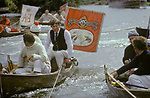 Swan Upping. The River Thames near Windsor Berkshire England 1980s.