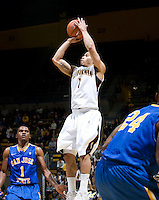 Justin Cobbs of California shoots the ball during the game against SJSU at Haas Pavilion in Berkeley, California on December 7th, 2011.   California defeated San Jose State, 81-62.