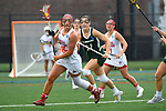 TAMPA, FL - MAY 20: Dani Bursinger #15 of the Florida Southern Mocs pushes the ball downfield against the Le Moyne Dolphins during the Division II Women's Lacrosse Championship held at the Naimoli Family Athletic and Intramural Complex on the University of Tampa campus on May 20, 2018 in Tampa, Florida. Le Moyne defeated Florida Southern 16-11 for the national title. (Photo by Jamie Schwaberow/NCAA Photos via Getty Images)