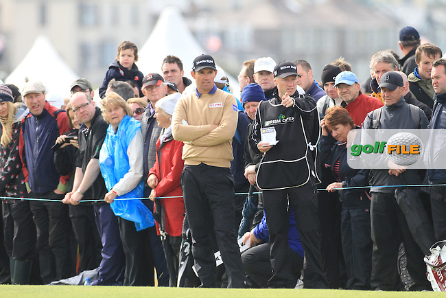 Padraig Harrington (IRL) on the 18th during round 3 of the Irish Open at Royal Portrush GC,Portrush,County Antrim,Ireland. 30/6/12.Picture Fran Caffrey www.golffile.ie