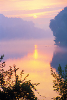 Thames River London Ontario at Sunrise in Mist
