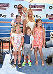WESTWOOD, CA - JUNE 30: Tori Spelling, Dean McDermott and their children attend the Columbia Pictures and Sony Pictures Animation's world premiere of 'Hotel Transylvania 3: Summer Vacation' at Regency Village Theatre on June 30, 2018 in Westwood, California.