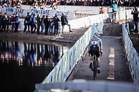 Laura Verdonschot (BEL) chasing the lead group. <br /> <br /> UEC CYCLO-CROSS EUROPEAN CHAMPIONSHIPS 2018<br /> 's-Hertogenbosch – The Netherlands<br /> Women's Elite Race