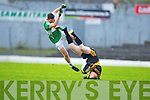 Colm Cooper Dr Crokes kicks off  Legion's Chris Davies during the O'Donoghue cup final in Fitzgerald Stadium on Sunday