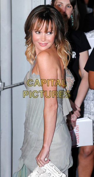 Amanda Holden<br /> Glamour Women of the Year Awards - Outside arrivals - at Berkeley Square Gardens, London, England.<br /> June 4th 2013<br /> half length grey gray one shoulder sleeve slit split side <br /> CAP/PP/GM<br /> &copy;Gary Mitchell/PP/Capital Pictures