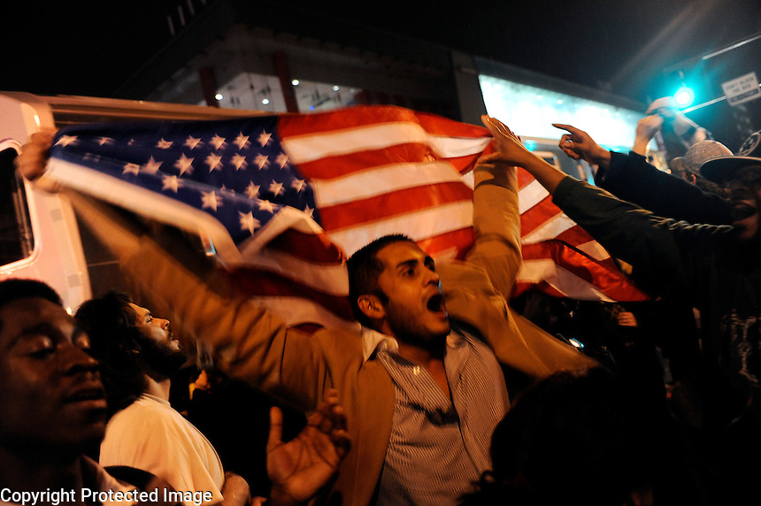 USA. Harlem 4th November 2008..Celebrations in Harlem as Barak Obama is named the President Elect..©Andrew Testa