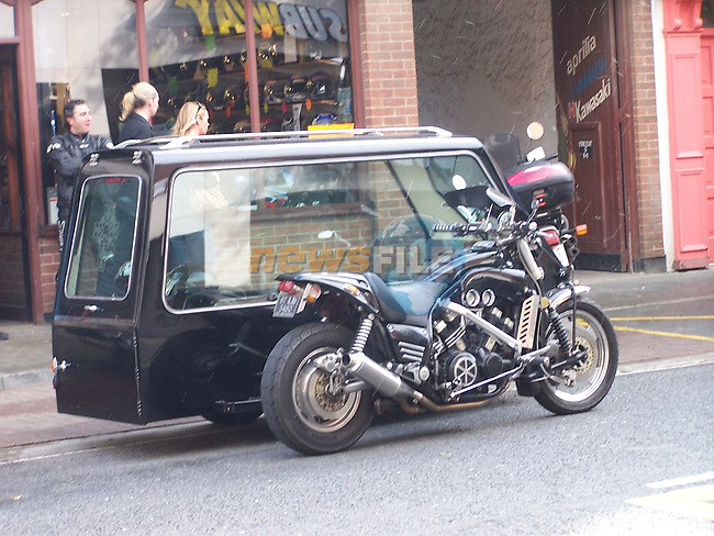 Motorcycle Herse..Photo: Fran Caffrey/www.newsfile.ie..