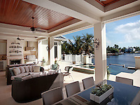 Well designed indoor-outdoor living takes advantage of the weather and the view.
