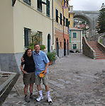 John and Beth along the Mediterranean Sea in Bogliasco, Italy.