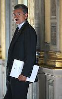 Roma, 09/06/2006 Palazzo Chigi. Il ministro degli Esteri Massimo D'Alema dopo il consiglio dei Ministri.<br /> Photo Samantha Zucchi Insidefoto