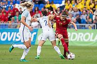 England's Lucy Bronze Spain's Vicky Losada during the frendly match between woman teams of  Spain and England at Fernando Escartin Stadium in Guadalajara, Spain. October 25, 2016. (ALTERPHOTOS/Rodrigo Jimenez) /NORTEPHOTO.COM