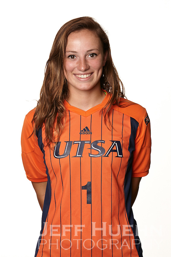 SAN ANTONIO, TX - AUGUST 2, 2014: The University of Texas at San Antonio Women's Soccer Team and Individual photographs. (Photo by Jeff Huehn)