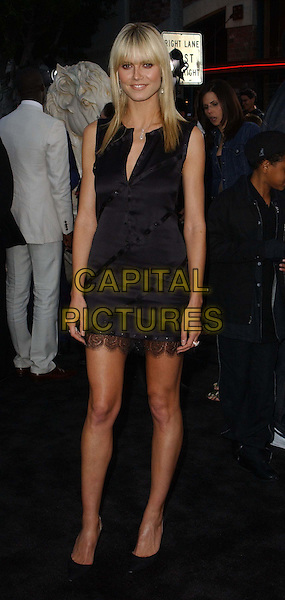 HEIDI KLUM.Arriving @ The ' Matrix Reloaded' LA Premiere held at The Mann Village Theater in Westwood.                            .little black dress, full length, full-length.www.capitalpictures.com.sales@capitalpictures.com.©Capital Pictures