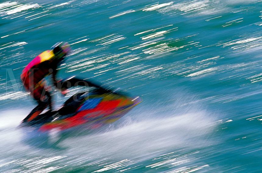 Man on jet ski.