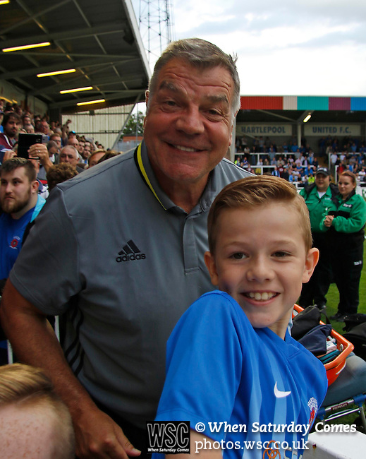 Hartlepool United 0 Sunderland 3, 20/07/2016. Victoria Park, Pre Season Friendly. Sam Allardyce Manager of Sunderland posing  for photographs before the game. Photo by Paul Thompson.