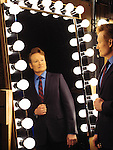 Conan O'Brien poses for a portrait on the set of his television show Conan in Burbank, California February 9, 2016.<br /> <br /> Photo Credit: Brinson+Banks