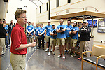 15 MAY 2016: Players from various golf teams visit the VA Medical Center to show their support towards our Veterans during the 2016 NCAA DII Sports Festival Championship Final Four held at NRG Stadium in Houston, TX. Derek Johnson/NCAA Photos
