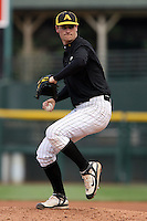 April 28, 2007:  Brian Dupra of Greece Athena High School during a game at Frontier Field in Rochester, NY.  Dupra was selected by the Texas Rangers in the 36th Round (1095th overall) of the 2007 amateur entry draft but elected to accept a scholarship to Notre Dame University.  Photo by:  Mike Janes/Four Seam Images