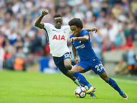 Chelsea's William  and Tottenham's Victor Wanyama during the Premier League match between Tottenham Hotspur and Chelsea at Wembley Stadium, London, England on 20 August 2017. Photo by Andrew Aleksiejczuk / PRiME Media Images.