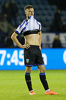 Morgan Fox of Sheffield Wednesday shows his frustratio n at the end of the game during the Sky Bet Championship match between Sheffield Wednesday and Swansea City at Hillsborough Stadium, Sheffield, England, UK. Saturday 09 November 2019