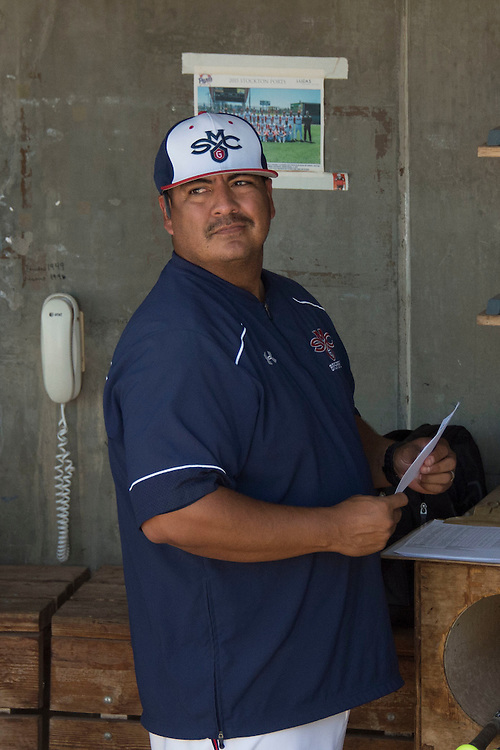 May 26, 2016; Stockton, CA, USA; Saint Mary's Gaels baseball head coach Eric Valenzuela during the WCC Baseball Championship at Banner Island Ballpark.