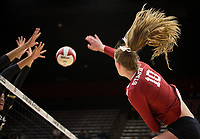 Stanford, CA - October 18, 2019: Kendall Kipp at Maples Pavilion. The No. 2 Stanford Cardinal swept the Colorado Buffaloes 3-0.