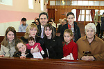 Isabelle Armstrong at her Confirmation with her family, Hannah, Rebecca, Fiona, Mia, Abigail, Luke and Theresa in Tullyallen...Photo NEWSFILE/Jenny Matthews.(Photo credit should read Jenny Matthews/NEWSFILE)....This Picture has been sent you under the condtions enclosed by:.Newsfile Ltd..The Studio,.Millmount Abbey,.Drogheda,.Co Meath..Ireland..Tel: +353(0)41-9871240.Fax: +353(0)41-9871260.GSM: +353(0)86-2500958.email: pictures@newsfile.ie.www.newsfile.ie.FTP: 193.120.102.198.